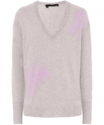 Cashmere Flaviana V-Neck Palm Jumper