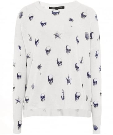 Lotta Skull Palm Print Jumper