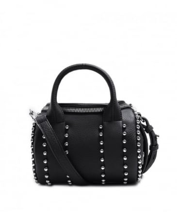 Leather Mini Rockie Ball Stud Handbag