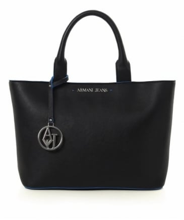 Contrast Trim Logo Tote Bag