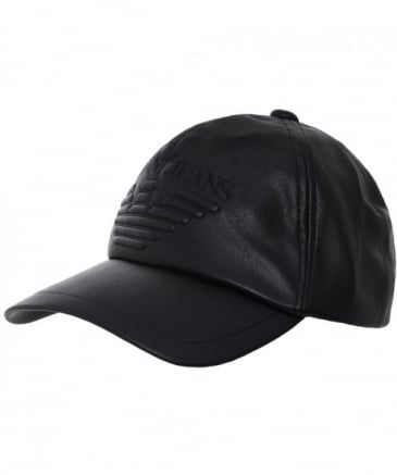 Faux Leather Logo Cap