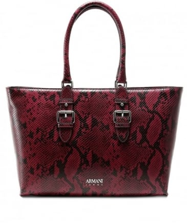 Snake Effect Shopper Bag