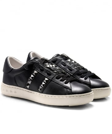 Studded Leather Party Trainers