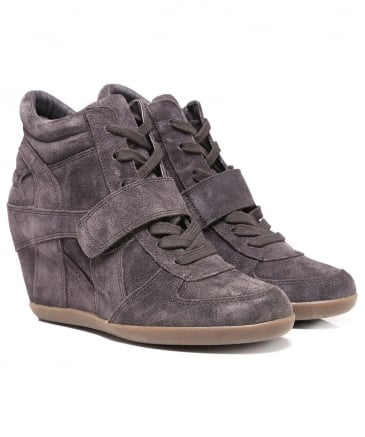 Suede Bowie High Top Wedge Trainers