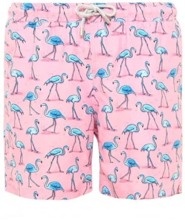 Mid Length Arthur Flamingo Swim Shorts