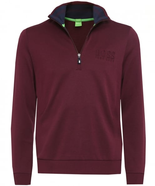 BOSS Green Half-Zip Logo sweatshirt