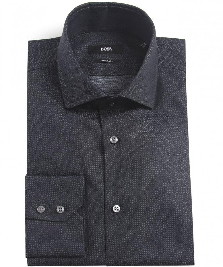 hugo boss black gordon pindot shirt abrufbar unter jules b. Black Bedroom Furniture Sets. Home Design Ideas