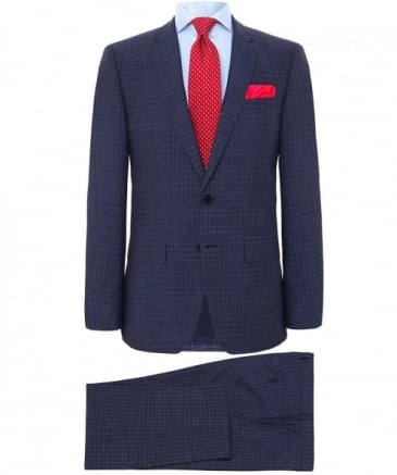 Slim Fit Virgin Wool Check Huge5/Genius3 Suit