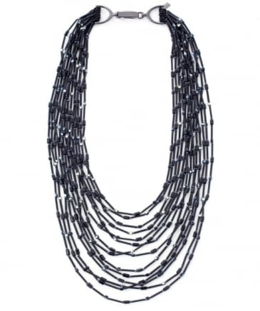 Blackout Multi Bead Necklace