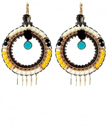 Hoxton Beaded Hoop Earrings