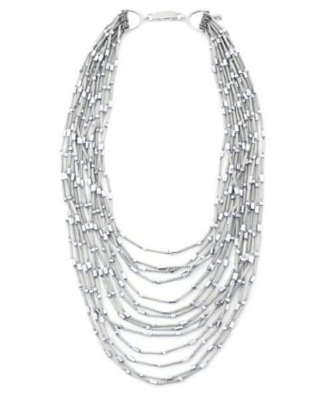 Silver Mount Bead Necklace