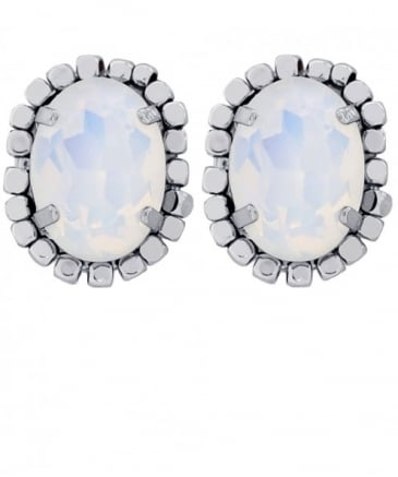 Oval Beaded Stud Soho Earrings