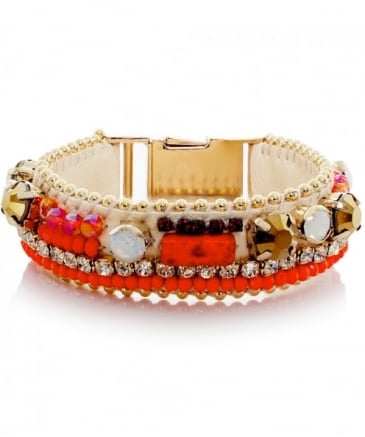 Beaded Columbia Road Buckle Bracelet