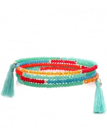 Beaded Columbia Road Coil Bracelet