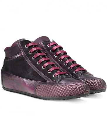Metallic Leather Mont Trainers