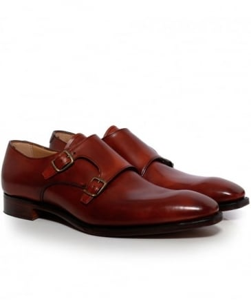 Leather Tiverton Double Monk Strap Shoes