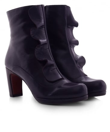 Leather Picoli Frill Boots