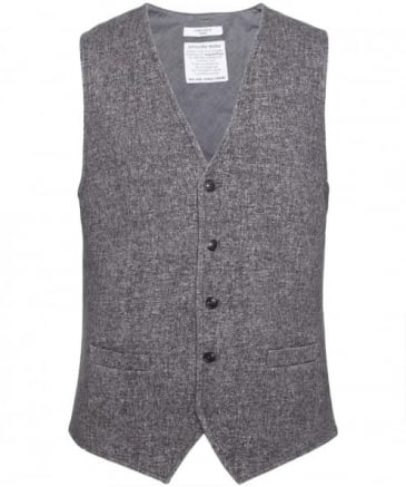 Cotton Tweed Effect Waistcoat