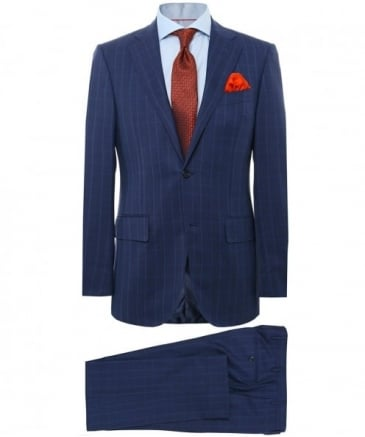 Virgin Wool Check Suit