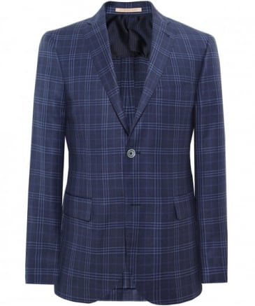 Virgin Wool Bold Check Jacket