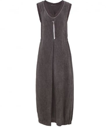 Linen Scoop Neck Maxi Dress