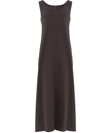 Jersey Back Button Maxi Dress