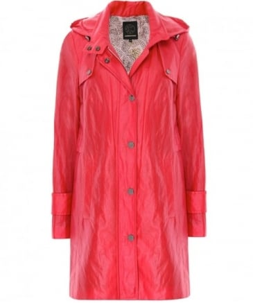 Hooded Cotton Blend Coat