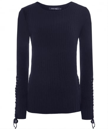 Ring Lace-Up Detail Jumper