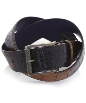 Tonal Mock Croc Belt