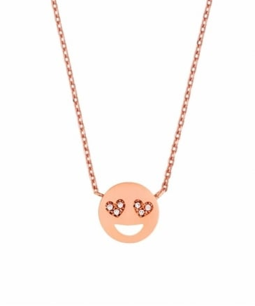 Heart Eyes Emoji Necklace