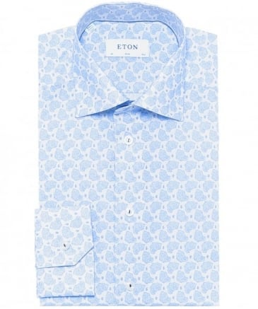 Slim Fit Printed Poplin Shirt