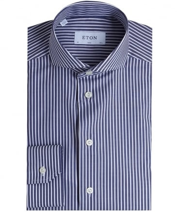 Slim Fit Striped Fine Twill Shirt