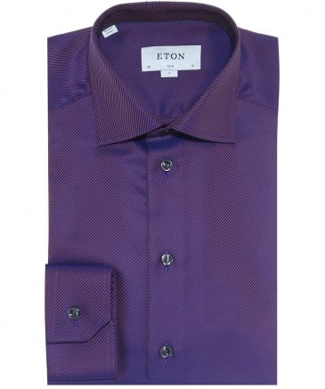 Slim Fit Textured Twill Shirt