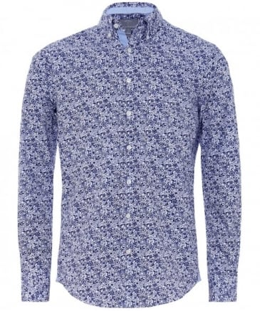 Cotton Flower Print Shirt