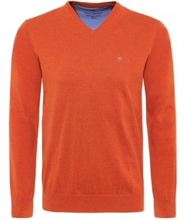 V-Neck Superfine Cotton Jumper