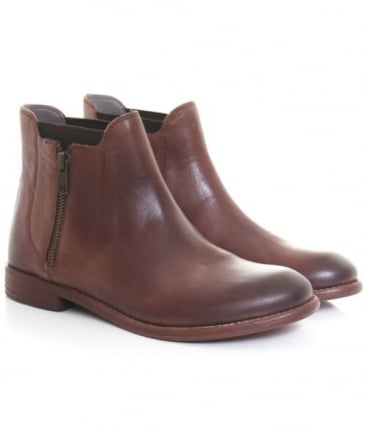 Algoma Leather Ankle Boots