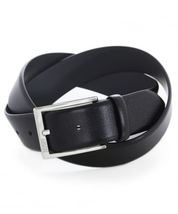 Textured Leather C-Gorizy Belt