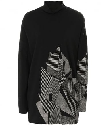 Abstract Print Jersey Jumper
