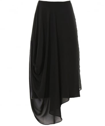 Chiffon Overlay Pencil Skirt