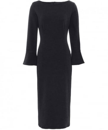 Flute Sleeve Midi Dress