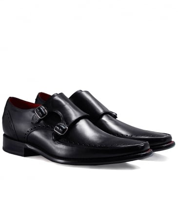 Leather Jazz Melly Monk Strap Shoes