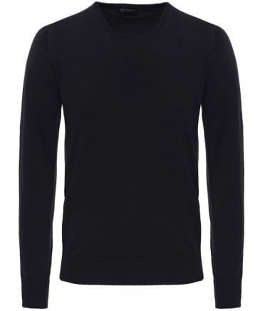 Easy Fit Merino Wool V-Neck Bobby Jumper