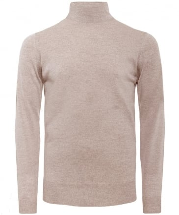 Standard Fit Merino Wool Roll Neck Cherwell Jumper