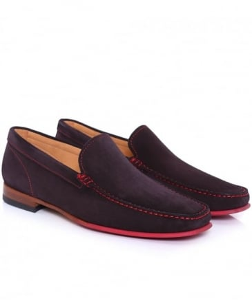 Suede Contrast Sole Loafers