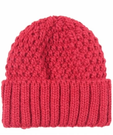 Block Cable Knit Hat