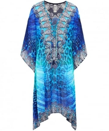 Clair Drawstring V-Neck Kaftan