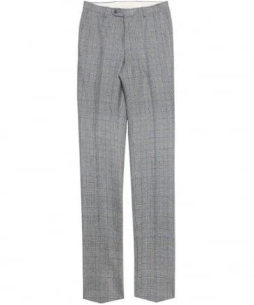 Glen Check Wool Trousers