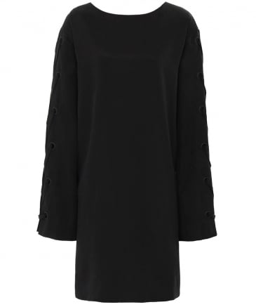 Bell Sleeve Grommet Dress