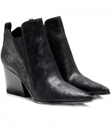 Suede Fox Ankle Boots