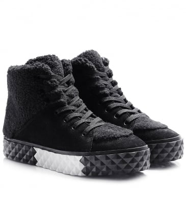 Suede Effect Rebel High Top Trainers